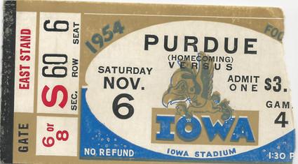 1954 Purdue Ticket