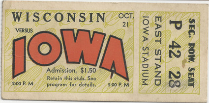1933 Wisconsin Ticket