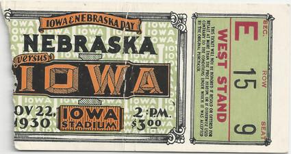 1930 Nebraska Ticket