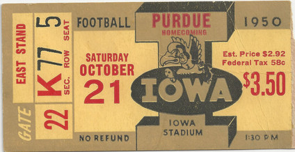1950 Purdue Ticket