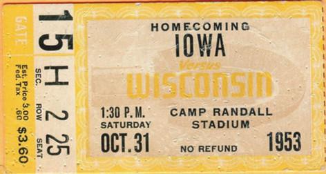 1953 @ Wisconsin Ticket