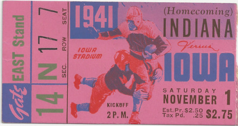 1941 Indiana Ticket
