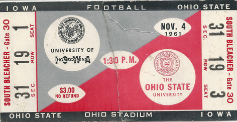 1961 @ Ohio State Ticket
