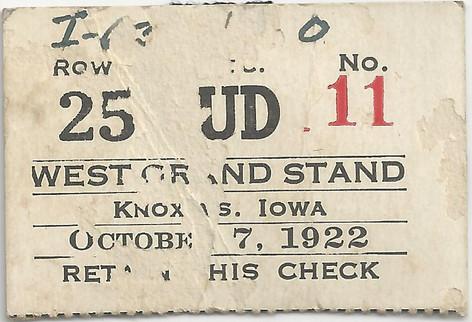 1922 Knox Ticket