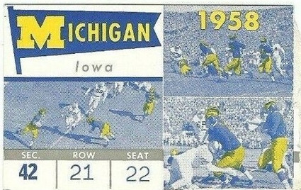 1958 @ Michigan Ticket