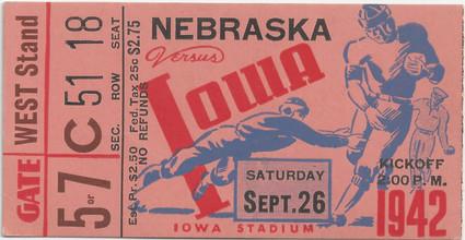 1942 Nebraska Ticket