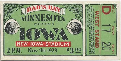 1929 Minnesota Ticket