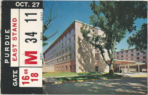 1962 Purdue Ticket