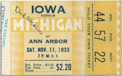 1933 @ Michigan Ticket