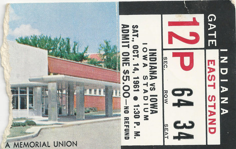 1961 Indiana Ticket