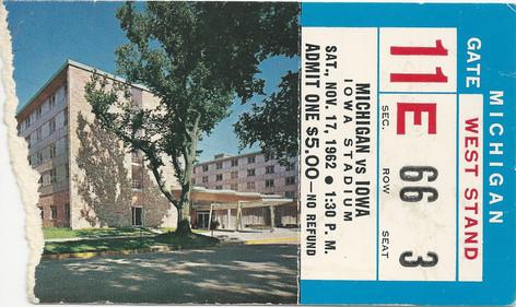 1962 Michigan Ticket