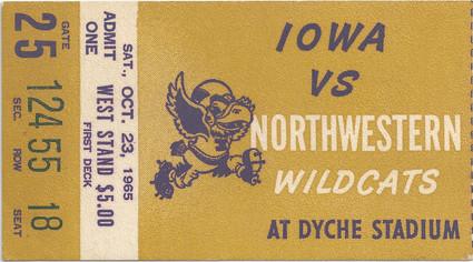 1965 @ Northwestern Ticket