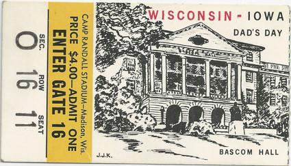 1959 @ Wisconsin Ticket