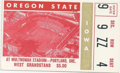 1965 @ Oregon State Ticket