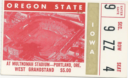 1965 @ Oregon State Ticket