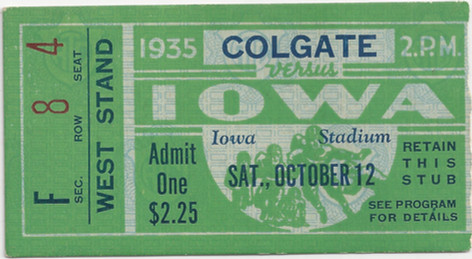 1935 Colgate Ticket