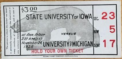 1928 @ Michigan Ticket