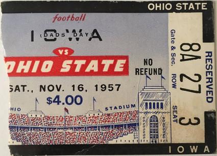 1957 @ Ohio St Ticket