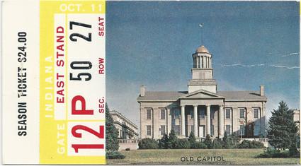 1958 Indiana Ticket