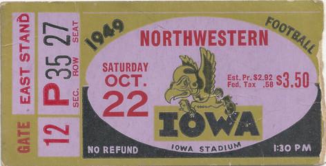 1949 Northwestern Ticket