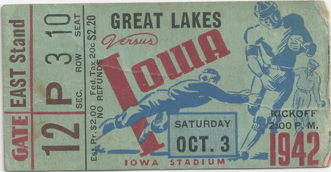 1942 Great Lakes Ticket