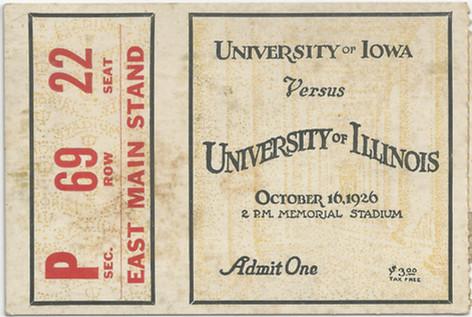 1926 @ Illinois Ticket