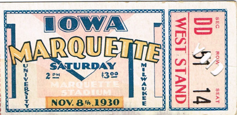1930 @ Marquette Ticket