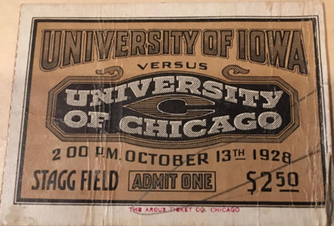1928 @ Chicago Ticket