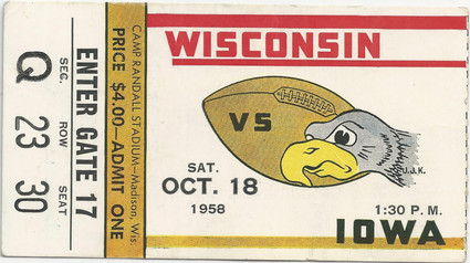 1958 @ Wisconsin Ticket