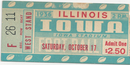 1936 Illinois Ticket