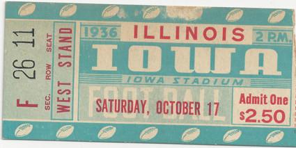 1936 Illinois Ticket