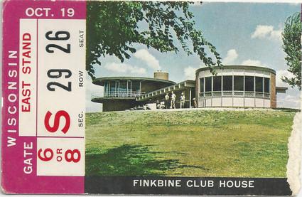1968 Wisconsin Ticket