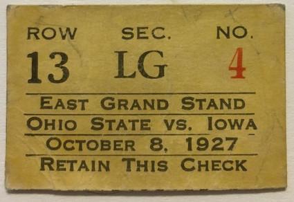1927 Ohio State Ticket