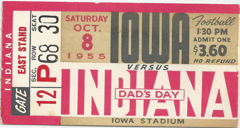 1955 Indiana Ticket