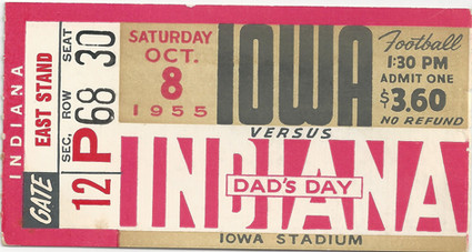 1955 Indiana Ticket