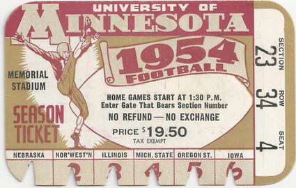 1954 @ Minnesota Ticket
