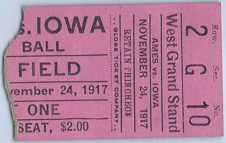 1917 Ames Ticket