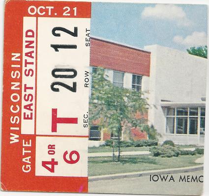 1961 Wisconsin Ticket