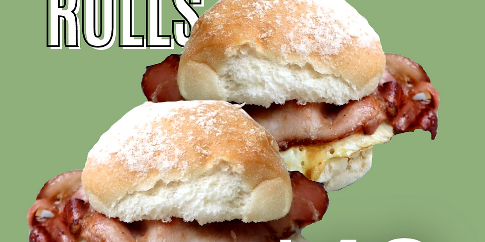 2 BACON AND EGG ROLLS FOR $10