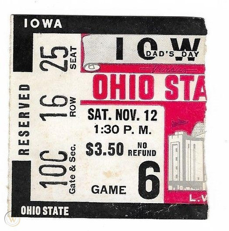 1955 @ Ohio State Ticket