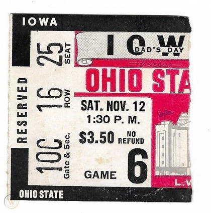 1955 @ Ohio State Ticket