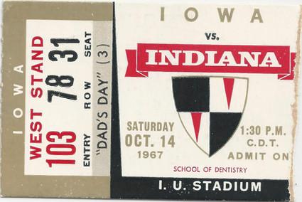 1967 @ Indiana Ticket
