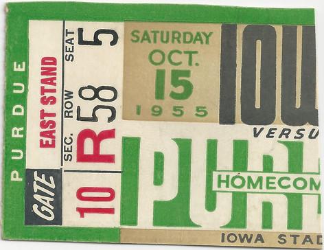 1955 Purdue Ticket
