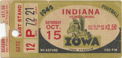 1949 Indiana Ticket
