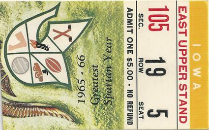 1966 @ Michigan State Ticket