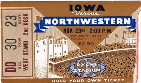 1935 @ Northwestern Ticket