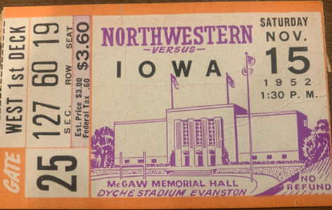 1952 @ Northwestern Ticket