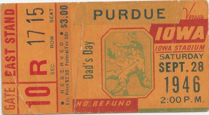 1946 Purdue Ticket