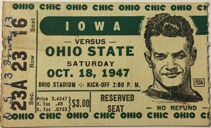 1947 @ Ohio State Ticket