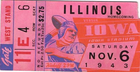 1943 Illinois Ticket